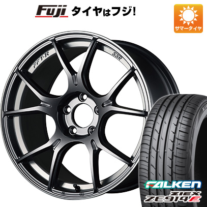 タイヤはフジ 送料無料 SSR GTX02 7.5J 7.50-18 FALKEN ジークス ZE914F 225/40R18 18インチ サマータイヤ ホイール4本セット