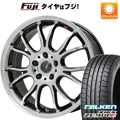 タイヤはフジ 送料無料 LEHRMEISTER ヴァッサーノ(ブラックポリッシュ) 4.5J 4.50-15 FALKEN ジークス ZE914F 165/55R15 15インチ サマータイヤ ホイール4本セット