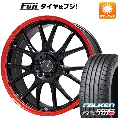 新作商品 タイヤはフジ 送料無料 LEHRMEISTER レアマイスター ヴァッサーノ(ブラック/レッドクリア) 7J 7.00-18 FALKEN ジークス ZE914F 215/40R18 18インチ サマータイヤ ホイール4本セット, ザイス-ヤマザキ ed156ae1