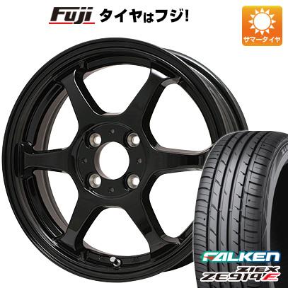 タイヤはフジ 送料無料 LEHRMEISTER リアルスポーツ カリスマVS6 5J 5.00-14 FALKEN ジークス ZE914F 165/60R14 14インチ サマータイヤ ホイール4本セット