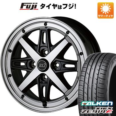 タイヤはフジ 送料無料 ALGERNON アルジェノン フェニーチェ RX-2 6J 6.00-15 FALKEN ジークス ZE914F 195/65R15 15インチ サマータイヤ ホイール4本セット