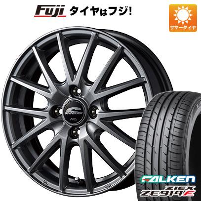 タイヤはフジ 送料無料 MID シュナイダー SQ27 4.5J 4.50-14 FALKEN ジークス ZE914F 165/60R14 14インチ サマータイヤ ホイール4本セット