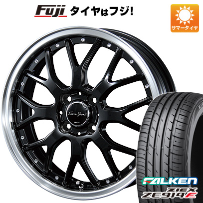 タイヤはフジ 送料無料 BLEST ブレスト ユーロスポーツ タイプ815 6J 6.00-16 FALKEN ジークス ZE914F 195/45R16 16インチ サマータイヤ ホイール4本セット