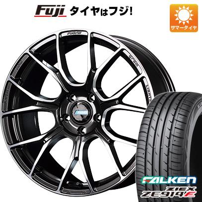 タイヤはフジ 送料無料 RAYS レイズ グラムライツ アズール57BNA 7J 7.00-17 FALKEN ジークス ZE914F 215/50R17 17インチ サマータイヤ ホイール4本セット