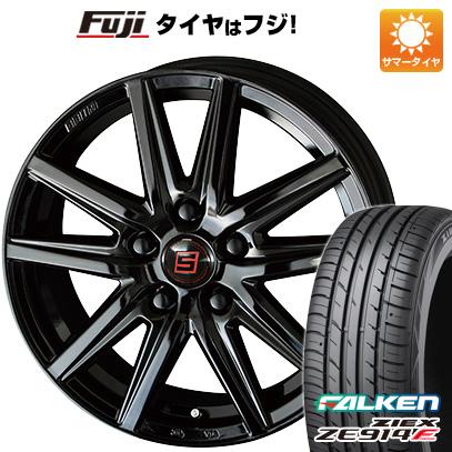 タイヤはフジ 送料無料 KYOHO 共豊 キョウホウ ザインSS ブラックエディション 8J 8.00-18 FALKEN ジークス ZE914F 225/55R18 18インチ サマータイヤ ホイール4本セット
