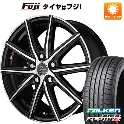 タイヤはフジ 送料無料 KYOHO 共豊 スマック プライム ヴァニッシュ 7.5J 7.50-18 FALKEN ジークス ZE914F 225/55R18 18インチ サマータイヤ ホイール4本セット