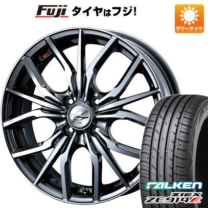 タイヤはフジ 送料無料 WEDS ウェッズ レオニス LV 6.5J 6.50-17 FALKEN ジークス ZE914F 205/45R17 17インチ サマータイヤ ホイール4本セット