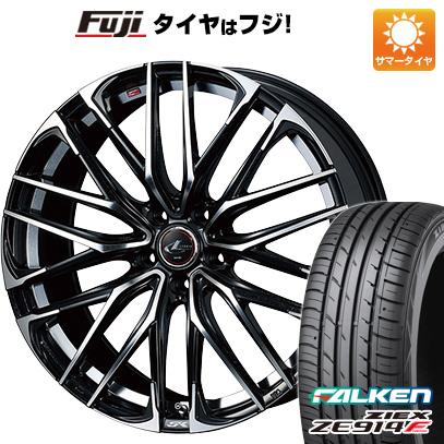 タイヤはフジ 送料無料 WEDS ウェッズ レオニス SK 7J 7.00-17 FALKEN ジークス ZE914F 225/65R17 17インチ サマータイヤ ホイール4本セット