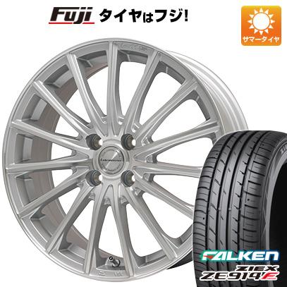 タイヤはフジ 送料無料 LEHRMEISTER LM-S FS15 (シルバーポリッシュ) 6.5J 6.50-16 FALKEN ジークス ZE914F 195/45R16 16インチ サマータイヤ ホイール4本セット
