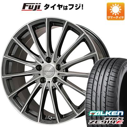 タイヤはフジ 送料無料 LEHRMEISTER LM-S FS15 (ガンメタポリッシュ) 7.5J 7.50-18 FALKEN ジークス ZE914F 225/45R18 18インチ サマータイヤ ホイール4本セット