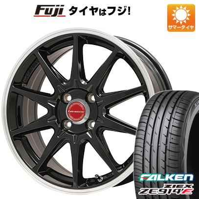 タイヤはフジ 送料無料 LEHRMEISTER レアマイスター LMスポーツRS10(グロスブラックリムポリッシュ) 6J 6.00-15 FALKEN ジークス ZE914F 175/65R15 15インチ サマータイヤ ホイール4本セット