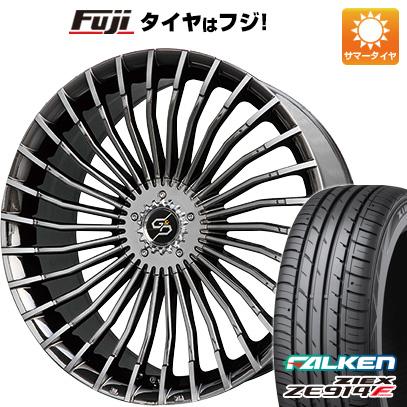 タイヤはフジ 送料無料 PREMIX プレミックス グラッパ f30 (BMCポリッシュ) 7.5J 7.50-18 FALKEN ジークス ZE914F 235/50R18 18インチ サマータイヤ ホイール4本セット