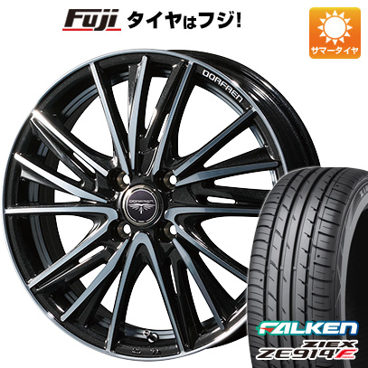タイヤはフジ 送料無料 TOPY トピー ドルフレン ビゲープ 5.5J 5.50-15 FALKEN ジークス ZE914F 185/60R15 15インチ サマータイヤ ホイール4本セット