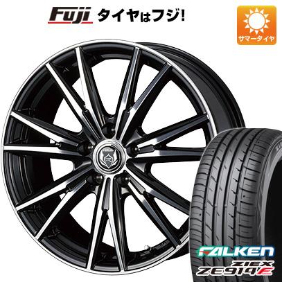 タイヤはフジ 送料無料 WEDS ウェッズ ライツレー DK 7.5J 7.50-18 FALKEN ジークス ZE914F 215/40R18 18インチ サマータイヤ ホイール4本セット