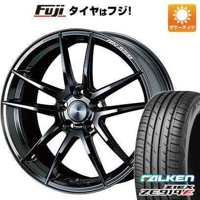 タイヤはフジ 送料無料 WEDS ウェッズスポーツ RN-55M 7.5J 7.50-18 FALKEN ジークス ZE914F 225/55R18 18インチ サマータイヤ ホイール4本セット