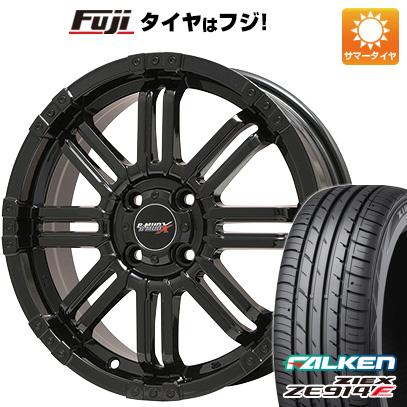タイヤはフジ 送料無料 BIGWAY ビッグウエイ B-MUD X(グロスブラック) 4.5J 4.50-14 FALKEN ジークス ZE914F 165/60R14 14インチ サマータイヤ ホイール4本セット