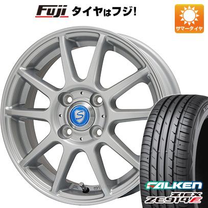タイヤはフジ 送料無料 BRANDLE ブランドル 302 4.5J 4.50-14 FALKEN ジークス ZE914F 165/55R14 14インチ サマータイヤ ホイール4本セット