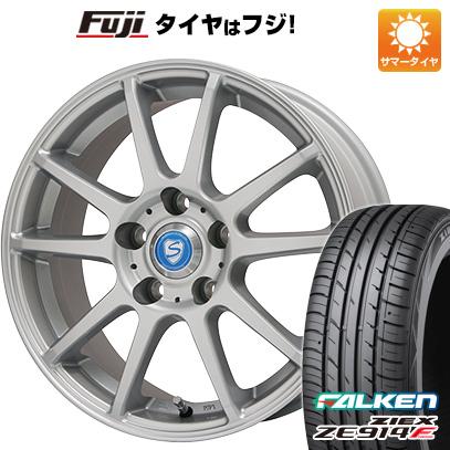 タイヤはフジ 送料無料 BRANDLE ブランドル 302 6J 6.00-15 FALKEN ジークス ZE914F 195/65R15 15インチ サマータイヤ ホイール4本セット