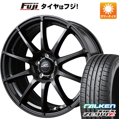 タイヤはフジ 送料無料 MID シュナイダー スタッグ 7J 7.00-18 FALKEN ジークス ZE914F 225/45R18 18インチ サマータイヤ ホイール4本セット