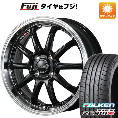 8月 2・5・8日はポイント倍増! タイヤはフジ 送料無料 BLEST ブレスト バーンズテック S10-DP 5J 5.00-16 FALKEN ジークス ZE914F 165/45R16 16インチ サマータイヤ ホイール4本セット