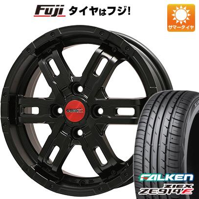 タイヤはフジ 送料無料 BIGWAY ビッグウエイ B-MUD Z(マットブラック) 4.5J 4.50-14 FALKEN ジークス ZE914F 165/60R14 14インチ サマータイヤ ホイール4本セット