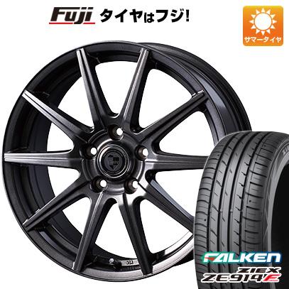 タイヤはフジ 送料無料 フリード 5穴/114 INTER MILANO インターミラノ クレール GS10J 6J 6.00-15 FALKEN ジークス ZE914F 185/65R15 15インチ サマータイヤ ホイール4本セット