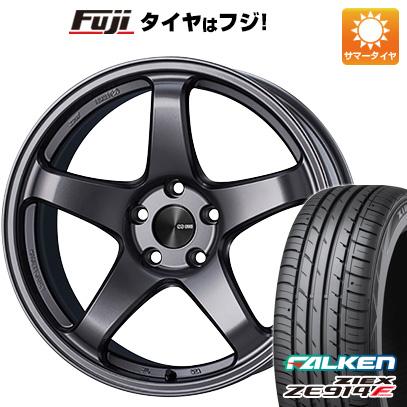 タイヤはフジ 送料無料 ENKEI エンケイ PF05 6J 6.00-15 FALKEN ジークス ZE914F 175/65R15 15インチ サマータイヤ ホイール4本セット