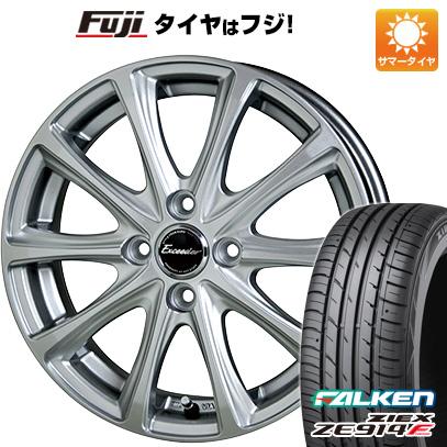 タイヤはフジ 送料無料 HOT STUFF ホットスタッフ エクシーダー E04 4.5J 4.50-14 FALKEN ジークス ZE914F 165/60R14 14インチ サマータイヤ ホイール4本セット