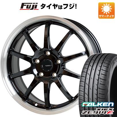 タイヤはフジ 送料無料 HOT STUFF ホットスタッフ ジースピード P-04 7.5J 7.50-18 FALKEN ジークス ZE914F 225/50R18 18インチ サマータイヤ ホイール4本セット
