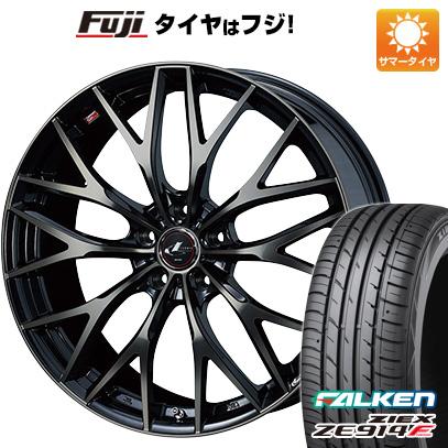 7/25はエントリーでポイント15倍 タイヤはフジ 送料無料 WEDS ウェッズ レオニス MX 6J 6.00-15 FALKEN ジークス ZE914F 195/65R15 15インチ サマータイヤ ホイール4本セット
