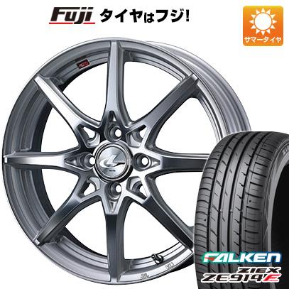タイヤはフジ 送料無料 WEDS ウェッズ レオニス SV 5.5J 5.50-15 FALKEN ジークス ZE914F 185/60R15 15インチ サマータイヤ ホイール4本セット