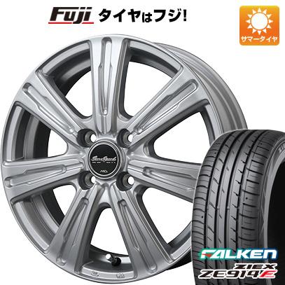 タイヤはフジ 送料無料 MID ユーロスピード C-07 5.5J 5.50-15 FALKEN ジークス ZE914F 185/65R15 15インチ サマータイヤ ホイール4本セット