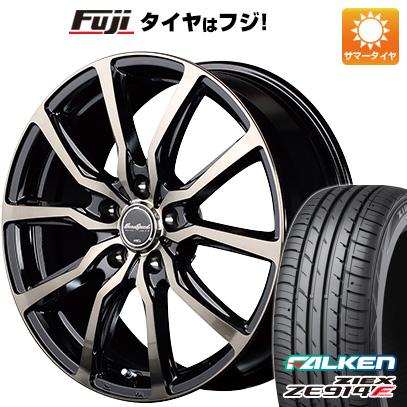 タイヤはフジ 送料無料 シエンタ 5穴/100 MID ユーロスピード D.C.52 6J 6.00-15 FALKEN ジークス ZE914F 185/60R15 15インチ サマータイヤ ホイール4本セット
