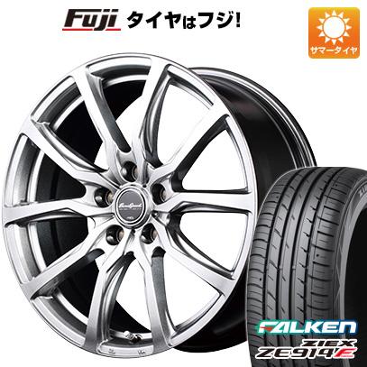 タイヤはフジ 送料無料 MID ユーロスピード G52 8J 8.00-18 FALKEN ジークス ZE914F 235/50R18 18インチ サマータイヤ ホイール4本セット