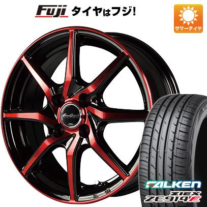 タイヤはフジ 送料無料 MID ユーロスピード S810 4.5J 4.50-15 FALKEN ジークス ZE914F 165/50R15 15インチ サマータイヤ ホイール4本セット