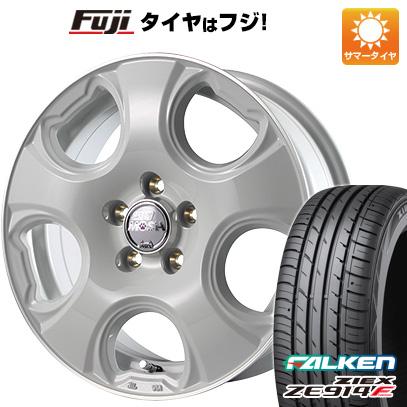 タイヤはフジ 送料無料 シエンタ 5穴/100 MID モッシュキャット 6J 6.00-15 FALKEN ジークス ZE914F 185/60R15 15インチ サマータイヤ ホイール4本セット