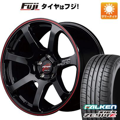 タイヤはフジ 送料無料 MID RMP レーシング R07 7.5J 7.50-18 FALKEN ジークス ZE914F 225/40R18 18インチ サマータイヤ ホイール4本セット