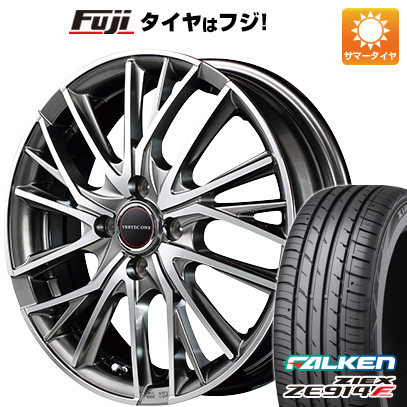 タイヤはフジ 送料無料 MID ヴァーテックワン ヴァルチャー 5.5J 5.50-15 FALKEN ジークス ZE914F 175/65R15 15インチ サマータイヤ ホイール4本セット