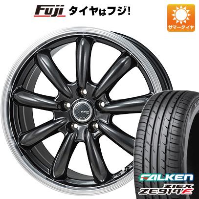 タイヤはフジ 送料無料 MONZA モンツァ JPスタイル バーニー 7.5J 7.50-18 FALKEN ジークス ZE914F 225/50R18 18インチ サマータイヤ ホイール4本セット