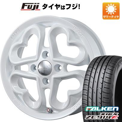タイヤはフジ 送料無料 PIAA ジュエルハート 5J 5.00-15 FALKEN ジークス ZE914F 165/50R15 15インチ サマータイヤ ホイール4本セット