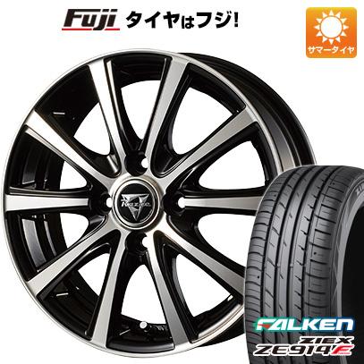 タイヤはフジ 送料無料 INTER MILANO インターミラノ レイジー XV 4.5J 4.50-14 FALKEN ジークス ZE914F 165/60R14 14インチ サマータイヤ ホイール4本セット
