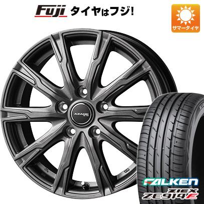 タイヤはフジ 送料無料 TOPY トピー アザーネ E10 6J 6.00-15 FALKEN ジークス ZE914F 195/65R15 15インチ サマータイヤ ホイール4本セット