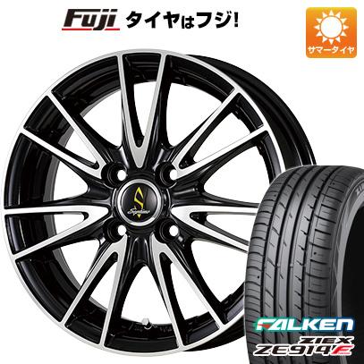 タイヤはフジ 送料無料 WORK ワーク セプティモ G02 ブラックポリッシュ 6J 6.00-16 FALKEN ジークス ZE914F 195/50R16 16インチ サマータイヤ ホイール4本セット