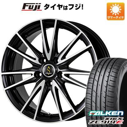 タイヤはフジ 送料無料 WORK ワーク セプティモ G02 ブラックポリッシュ 7J 7.00-18 FALKEN ジークス ZE914F 215/40R18 18インチ サマータイヤ ホイール4本セット
