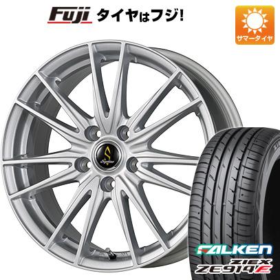 タイヤはフジ 送料無料 WORK ワーク セプティモ G02 シルバーメタリック 7J 7.00-18 FALKEN ジークス ZE914F 215/40R18 18インチ サマータイヤ ホイール4本セット