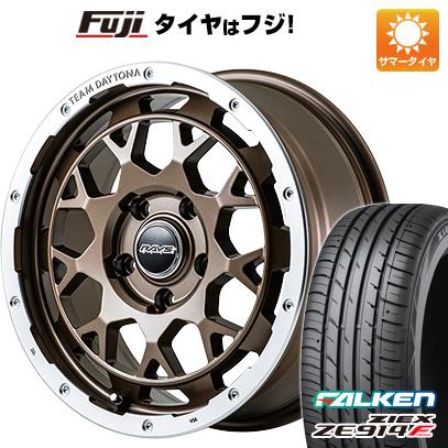 タイヤはフジ 送料無料 RAYS レイズ デイトナ M9 7J 7.00-17 FALKEN ジークス ZE914F 225/65R17 17インチ サマータイヤ ホイール4本セット
