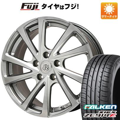 タイヤはフジ 送料無料 BRANDLE ブランドル E04 7.5J 7.50-18 FALKEN ジークス ZE914F 235/50R18 18インチ サマータイヤ ホイール4本セット