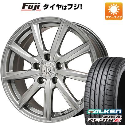 タイヤはフジ 送料無料 BRANDLE ブランドル E05 7J 7.00-17 FALKEN ジークス ZE914F 225/65R17 17インチ サマータイヤ ホイール4本セット