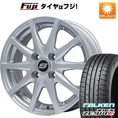 タイヤはフジ 送料無料 BRANDLE ブランドル M71 4.5J 4.50-14 FALKEN ジークス ZE914F 165/55R14 14インチ サマータイヤ ホイール4本セット