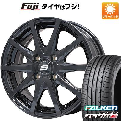 タイヤはフジ 送料無料 BRANDLE ブランドル M71B 4.5J 4.50-14 FALKEN ジークス ZE914F 165/60R14 14インチ サマータイヤ ホイール4本セット